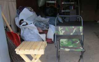 Складной стульчик из ПВХ для пикника своими руками