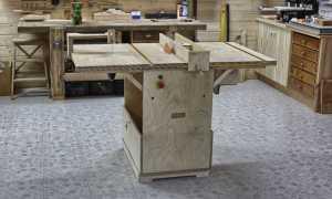 Портативный мультистанок (настольная циркулярная пила, фрезерный станок и лобзик) из фанеры (полный проект)