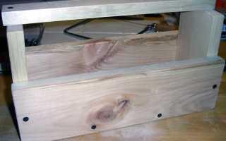 Деревянный ящик для инструментов своими руками (чертежи, проект)