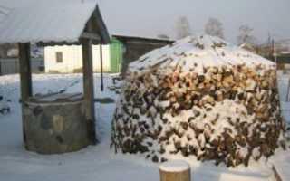 Эргономичная схема укладки дров на зиму. Метод Хольцхаузен