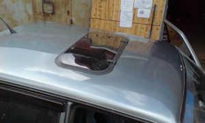 Как сделать люк в крыше автомобиля своими руками