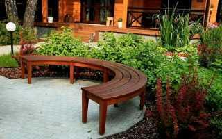 Полукруглая садовая скамья для дачи (мастер-класс по изготовлению, чертежи, фото)