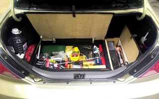 Самоделки для авто. Двойное дно в багажник авто своими руками (фото, пошагово)