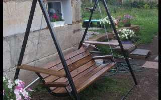 Чертеж садовых качелей для дачи