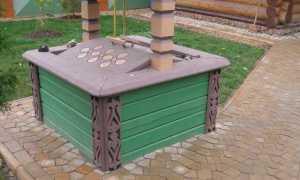 Делаем красивый домик для колодца на дачу