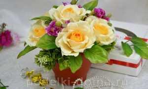 Мастер-класс по изготовлению розы из гофрированной бумаги с конфетами