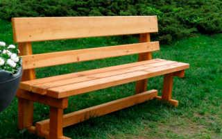 Интересная скамья для дачи своими руками