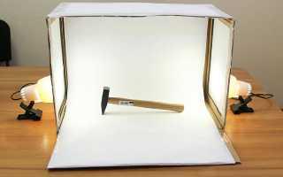 Изготовление лайтбокса для предметной съемки своими руками за полчаса