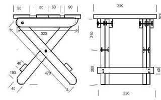 Раскладной стульчик для рыбака (чертежи)