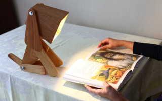 Деревянная настольная лампа своими руками
