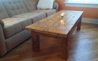 Журнальный столик в деревенском стиле для дачи своими руками (мастер-класс, фото, пошагово)