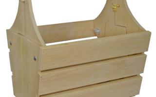 Как сделать раскладной стол-корзинку из дерева