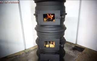 Самодельная печка из колесных дисков R14
