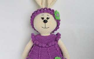 Как связать зайца крючком: мастер-класс по вязанию маленькой игрушки