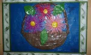 Лепка цветка из пластилина на примере красивой астры
