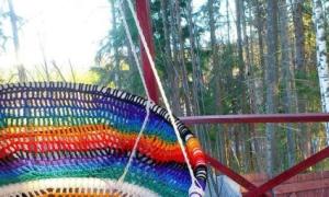 """Садовые качели-кресло """"Кокон"""" своими руками (пошагово, фото, видео)"""
