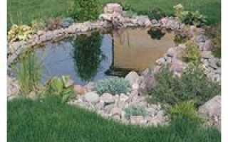 Садовый мини-пруд с кувшином-фонтаном