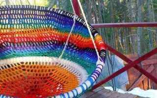 Еще один вариант самодельного подвесного кресла на дачу