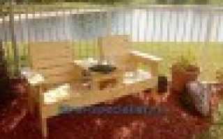 Садовая скамья со столиком в стиле Адирондак своими руками