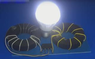 Свободная энергия своими руками. Вечный фонарь от Акулы (схема, видео)