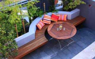 Красивая садовая скамья для дачи (фото, чертежи)