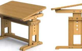 Подрастающая парта и стульчик из фанеры для ребенка своими руками (фото, проект, чертежи, мастер-класс)