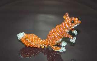 Плетение объемной собачки из бисера: схема и мастер-класс