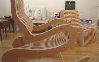 Еще один вариант простого садового кресла из фанеры своими руками