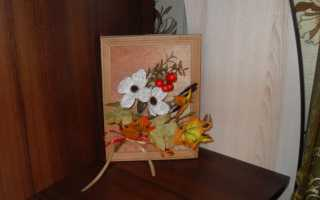 """Декоративное деревце """"Осенний поцелуй"""" (мастер-класс, пошагово, скачать)"""
