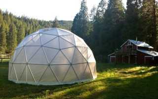 Теплица геодезический купол своими руками