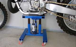Самодельный подъемник для мотоцикла из домкрата