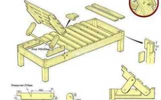 Классный регулируемый шезлонг для дачи (пошагово, чертежи, 24 фото)