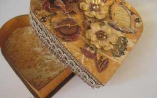 Изготовление шкатулки в виде сердечка