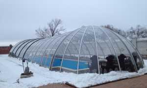 Укрытие для джакузи или надувного бассейна из теплицы 300×400 см своими руками