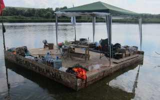 Плот своими руками для сплава по реке и рыбалки
