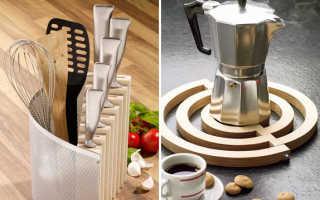 Самоделки для домашней кухни. 2 в 1. Подставка для ножей и столовых приборов. Классная подставка под горячее