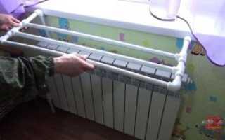 Самодельная сушилка для белья на радиатор отопления