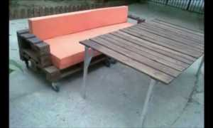 Делаем диванчик для веранды на даче своими руками
