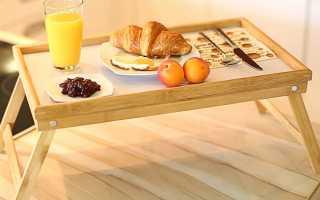 Поднос в постель? Пожалуйста! Мастер-класс по изготовлению столика-подноса и чертежи!