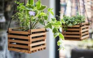Простое и эффектное деревянное кашпо для дачи своими руками
