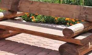 Простая и оригинальная садовая скамейка своими руками