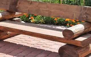 Простая деревянная скамейка на дачу своими руками