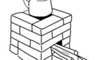 Ракетная печь из 21 кирпича (порядовки)