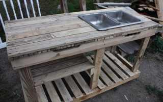 Универсальный рабочий стол в саду своими руками (фото, чертеж)