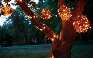 Дачный светильник из хлопковой веревки своими руками