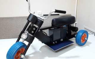 Электромотоцикл для внучки своими руками