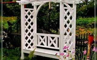 Крутая садовая скамья с аркой (фото, чертежи)