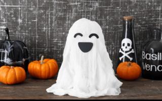 Делаем мини-привидения из марли на Хэллоуин (эффектно и просто)