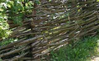 Как сделать плетень на своем дачном участке
