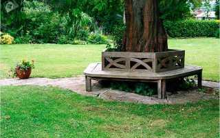 Садовая скамья вокруг дерева (фото, чертежи, мастер-класс)